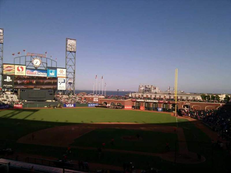 Seating view for AT&T Park Section 220 Row f Seat 10
