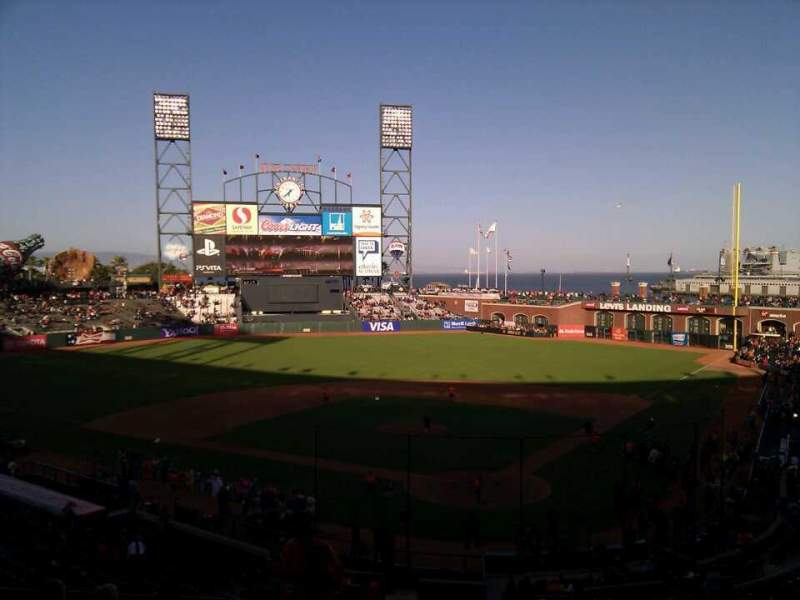 Seating view for AT&T Park Section 217 Row h Seat 12