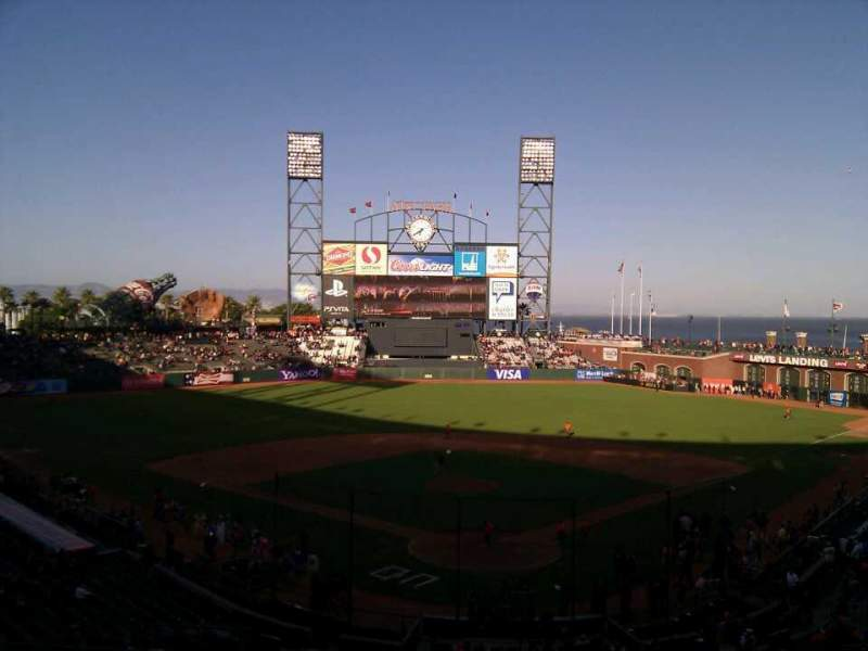 Seating view for AT&T Park Section 216 Row h Seat 9
