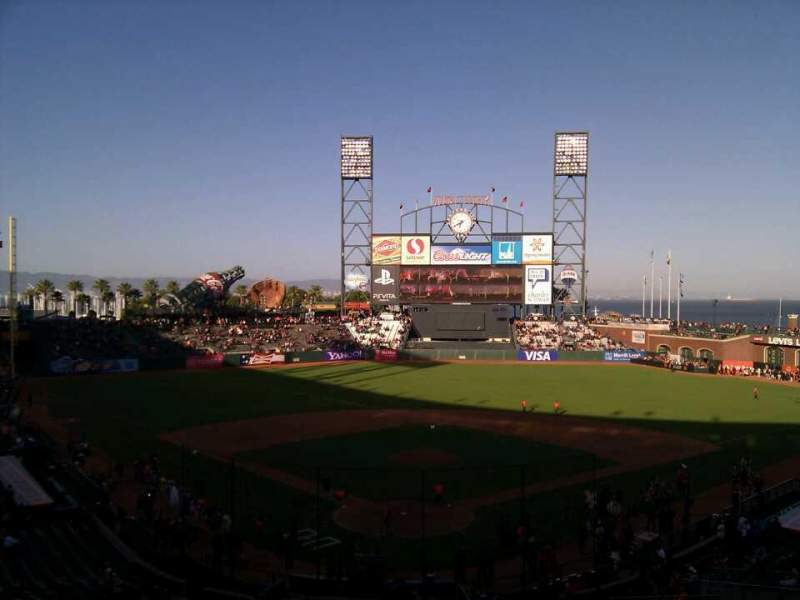 Seating view for AT&T Park Section 215 Row i Seat 6