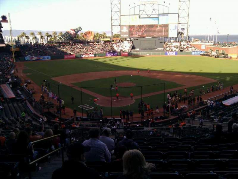 Seating view for AT&T Park Section 214 Row i Seat 13