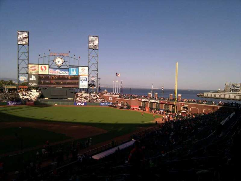 Seating view for Oracle Park Section 213 Row i Seat 10