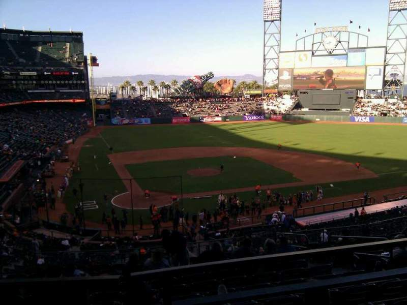 Seating view for AT&T Park Section 212 Row i Seat 10