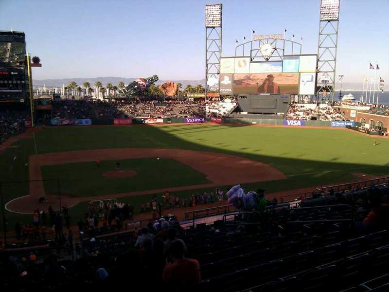 Seating view for AT&T Park Section 211 Row i Seat 10