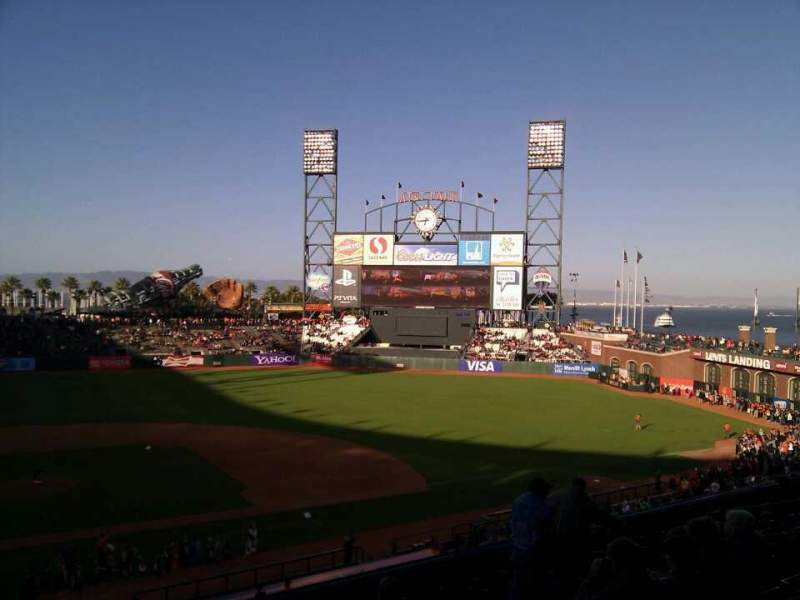 Seating view for AT&T Park Section 210 Row i Seat 10
