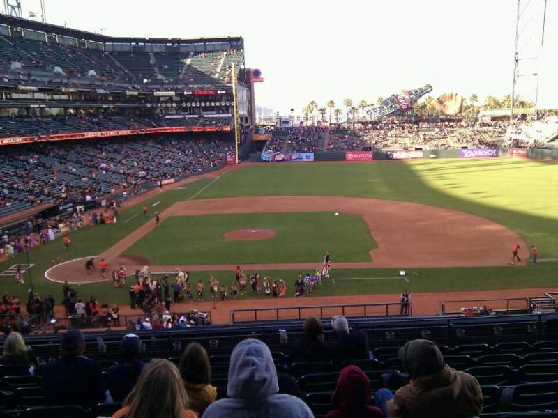 Seating view for AT&T Park Section 209 Row i Seat 10