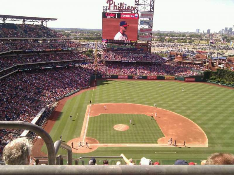 Seating view for Citizens Bank Park Section 416 Row 11 Seat 23