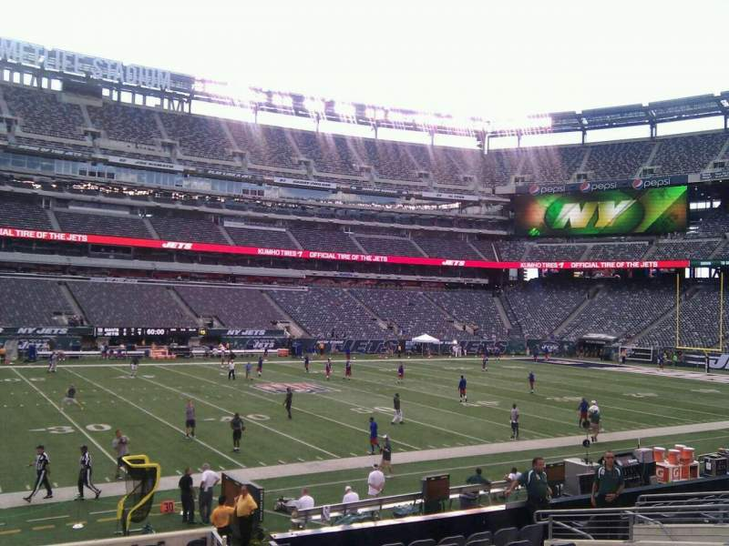 Seating view for MetLife Stadium Section 115a Row 16 Seat 12
