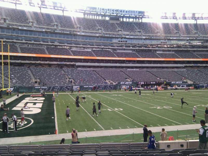 Seating view for MetLife Stadium Section 117 Row 12 Seat 9