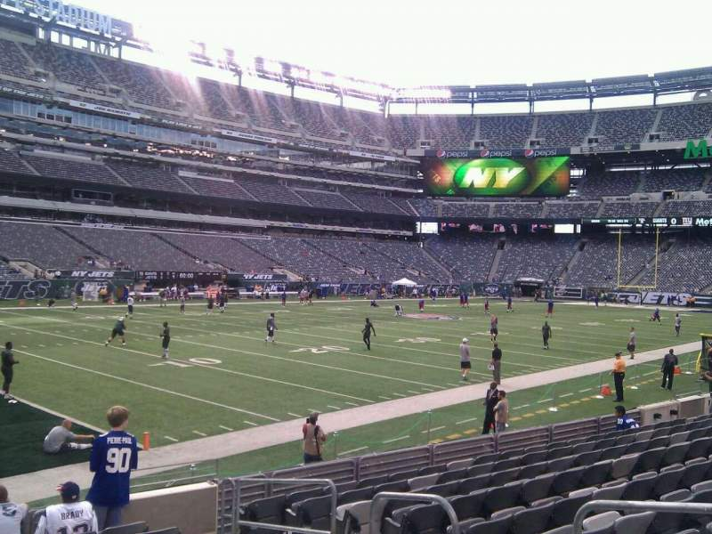 Seating view for MetLife Stadium Section 118 Row 10 Seat 4