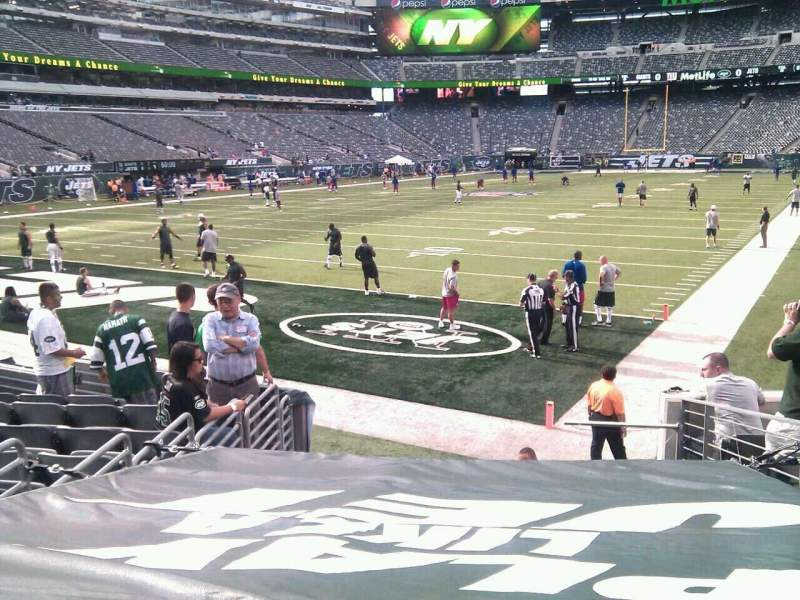 Seating view for MetLife Stadium Section 123 Row 10 Seat 7