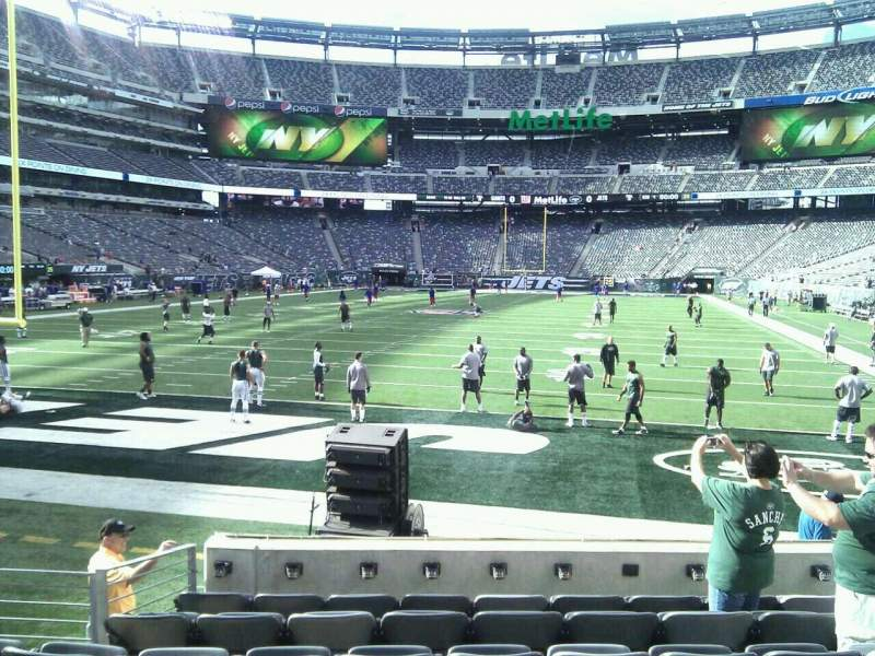 Seating view for MetLife Stadium Section 124 Row 8 Seat 8