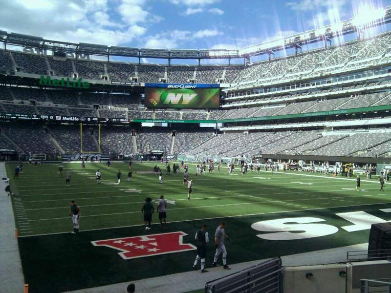 Seating view for MetLife Stadium Section 129 Row 10 Seat 10