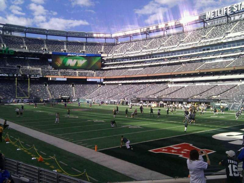 Seating view for MetLife Stadium Section 131 Row 9 Seat 6