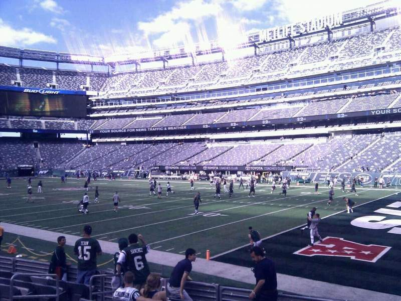 Seating view for MetLife Stadium Section 133 Row 8 Seat 11