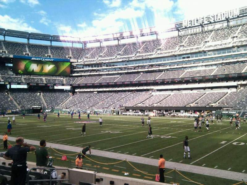 Seating view for MetLife Stadium Section 134 Row 9 Seat 14