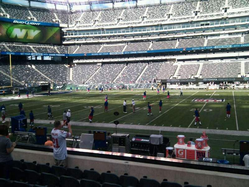 Seating view for MetLife Stadium Section 137 Row 9 Seat 8