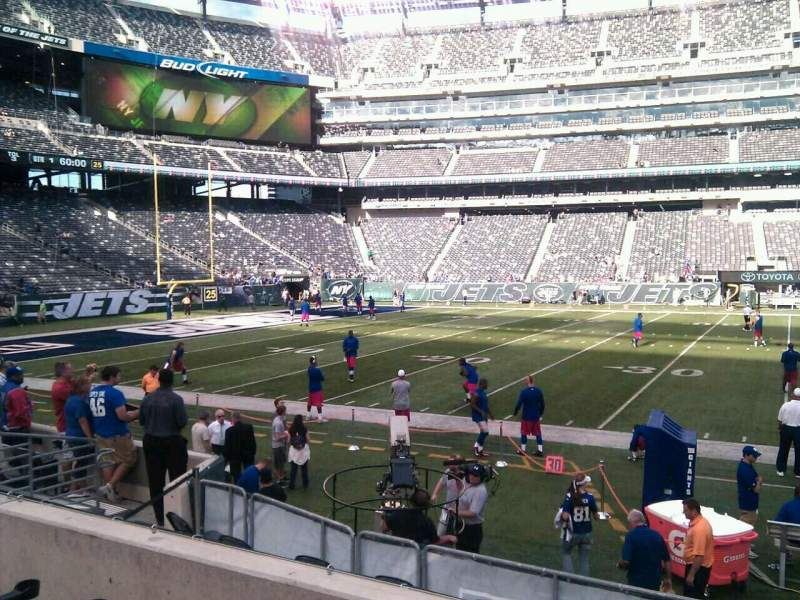 Seating view for MetLife Stadium Section 140 Row 8 Seat 7