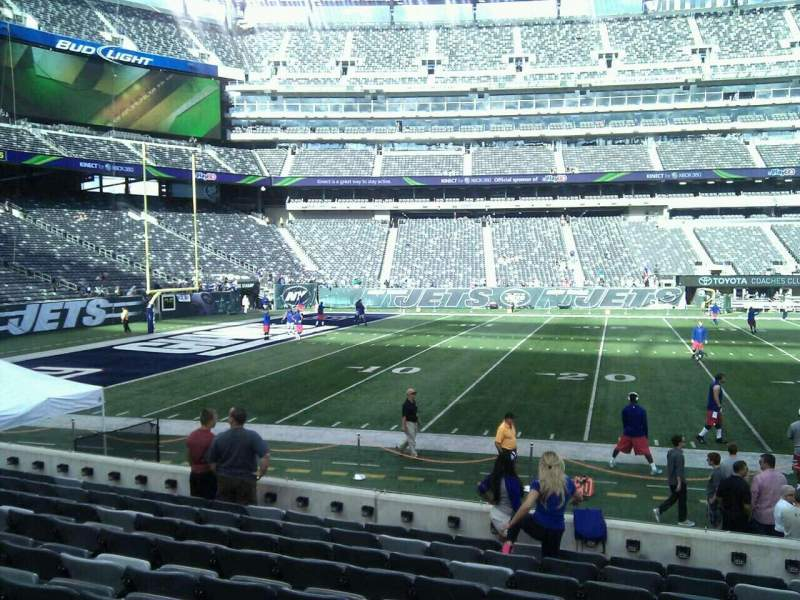 Seating view for MetLife Stadium Section 142 Row 10 Seat 8