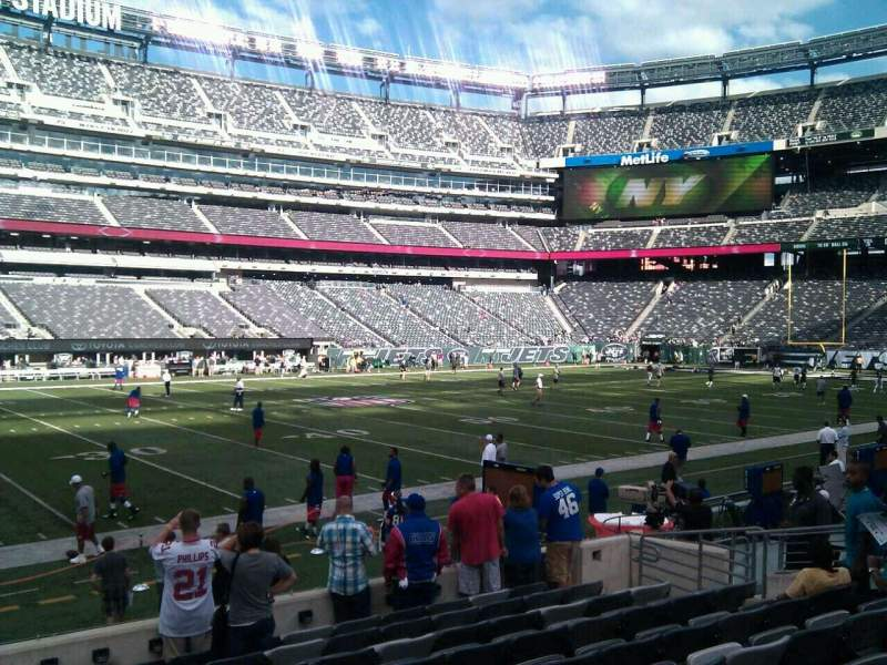 Seating view for MetLife Stadium Section 142 Row 10 Seat 12