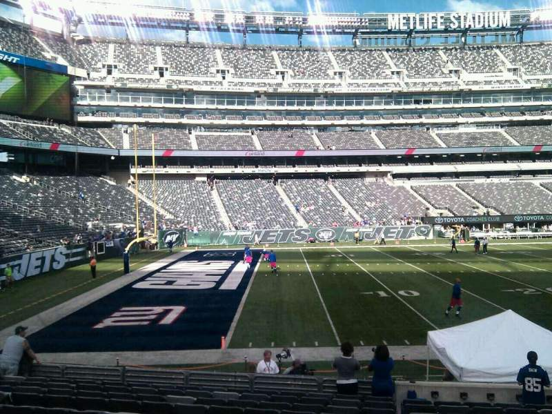 Seating view for MetLife Stadium Section 143 Row 14 Seat 6
