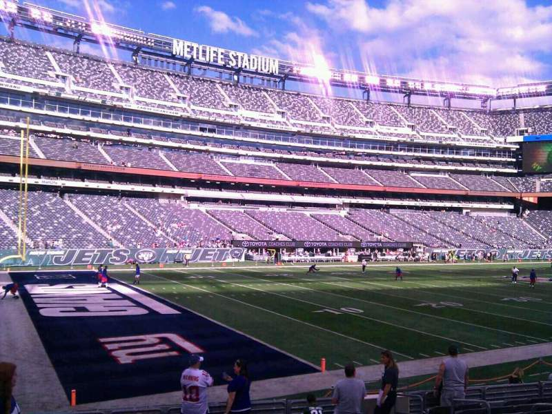 Seating view for MetLife Stadium Section 144 Row 13 Seat 6