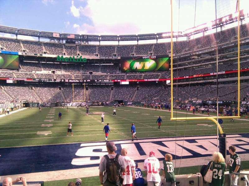 Seating view for MetLife Stadium Section 103 Row 8 Seat 7