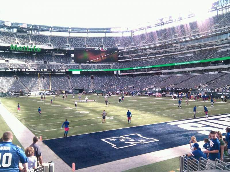 Seating view for MetLife Stadium Section 104 Row 11 Seat 17