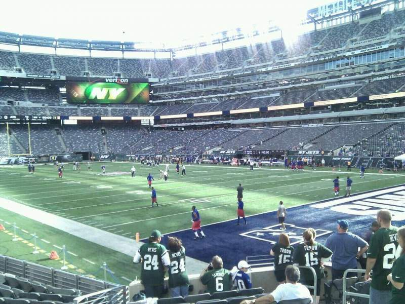 Seating view for MetLife Stadium Section 106 Row 12 Seat 6
