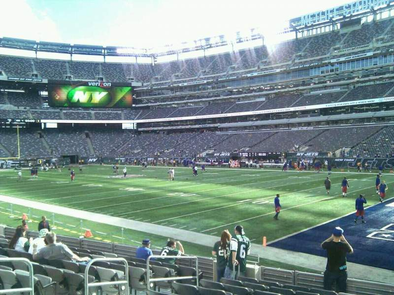Seating view for MetLife Stadium Section 108 Row 11 Seat 8