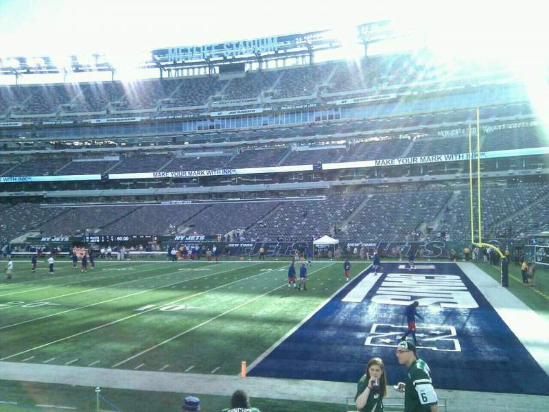 Seating view for MetLife Stadium Section 109 Row 8 Seat 1