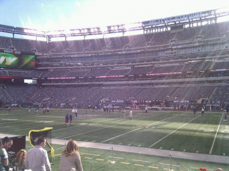Seating view for MetLife Stadium Section 112 Row 6 Seat 3