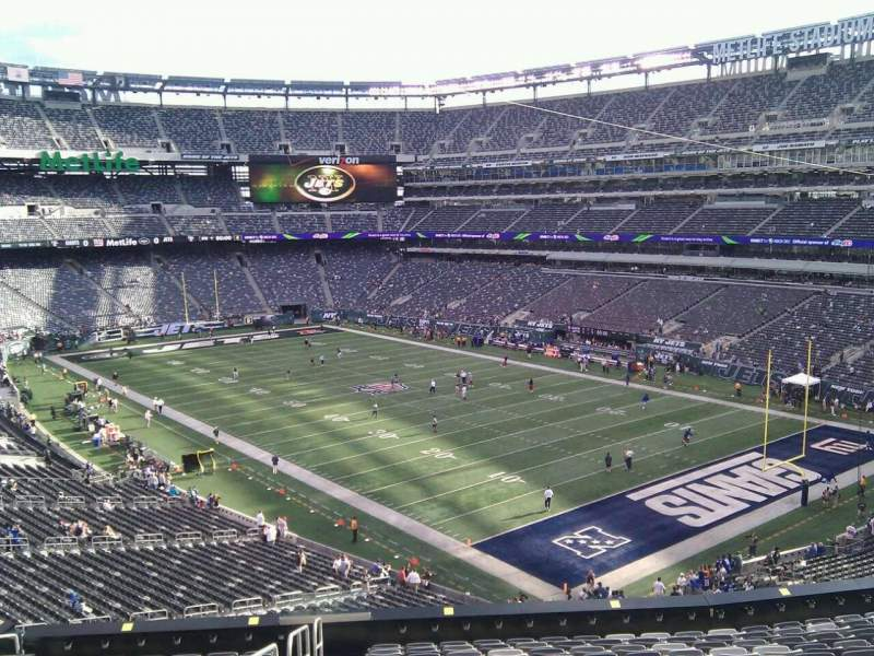 Seating view for MetLife Stadium Section 207c Row 1 Seat 1
