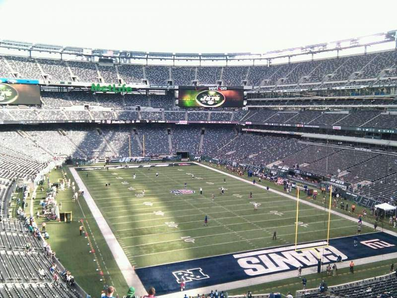 Seating view for MetLife Stadium Section 204 Row 12 Seat 1