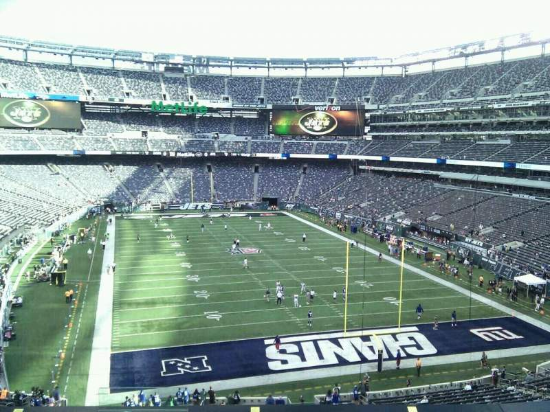 Seating view for MetLife Stadium Section 203a Row 10 Seat 20