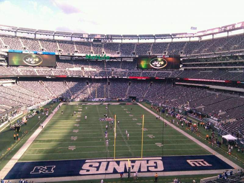 Seating view for MetLife Stadium Section 202a Row 9 Seat 16