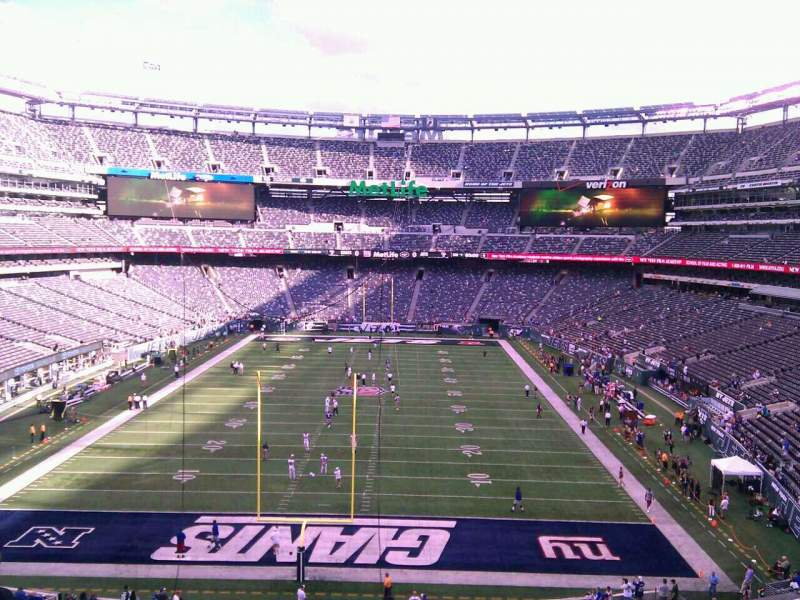 Seating view for MetLife Stadium Section 250a Row 8 Seat 12