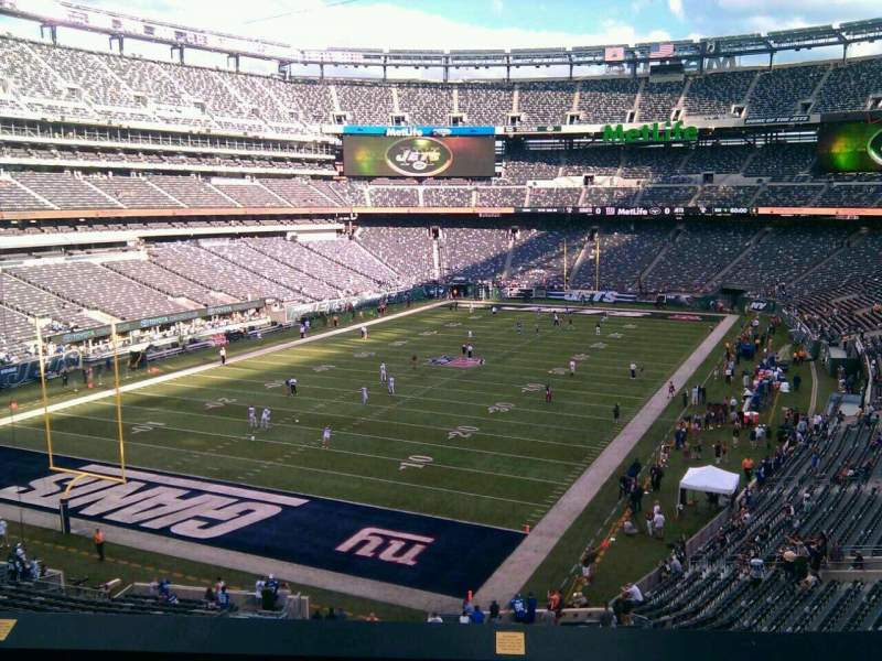 Seating view for MetLife Stadium Section 247a Row 5 Seat 15