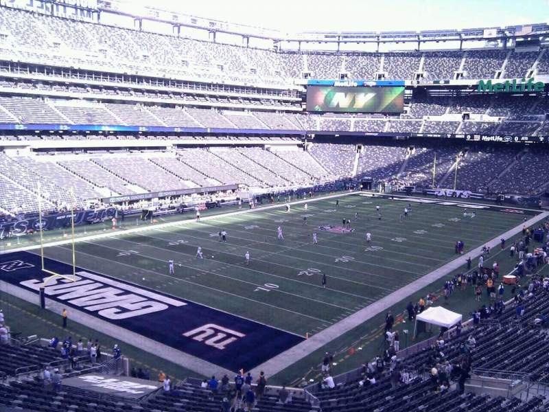 Seating view for MetLife Stadium Section 246a Row 3 Seat 15