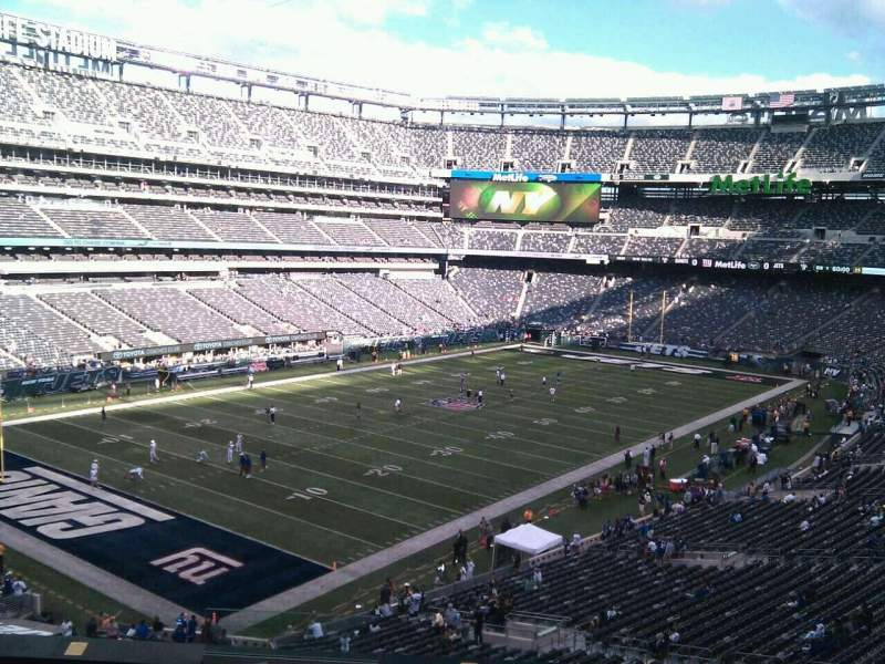 Seating view for MetLife Stadium Section 245c Row 8 Seat 10