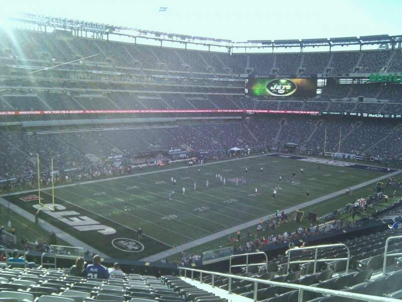 Seating view for MetLife Stadium Section 220a Row 13 Seat 3