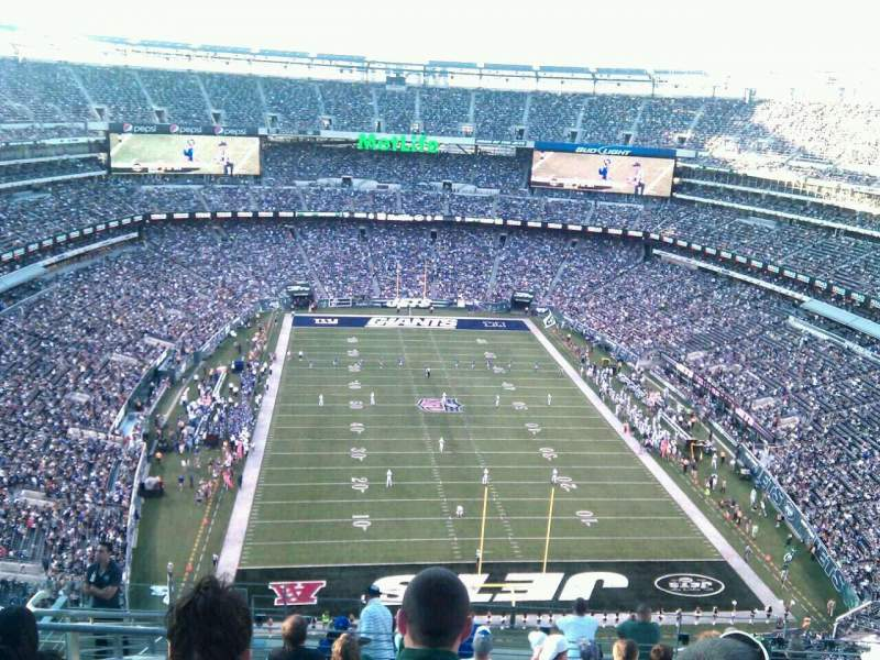 Seating view for MetLife Stadium Section 327 Row 16 Seat 20