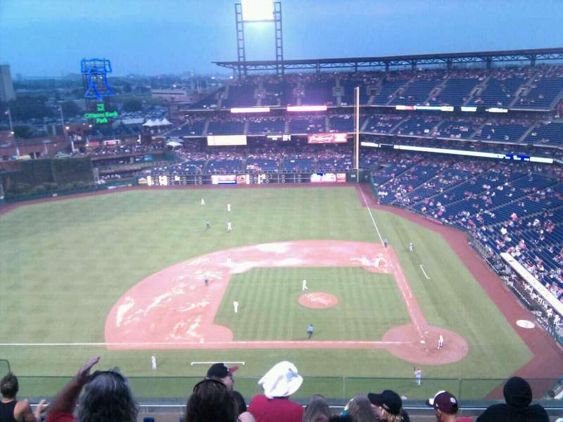 Seating view for Citizens Bank Park Section 425 Row 8 Seat 16
