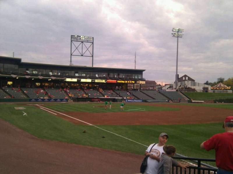 Seating view for Clipper Magazine Stadium Section 1 Row e Seat 5