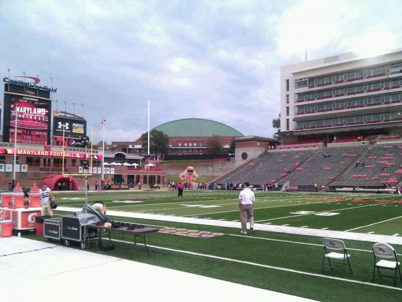 Seating view for Maryland Stadium Section 6 Row b Seat 17