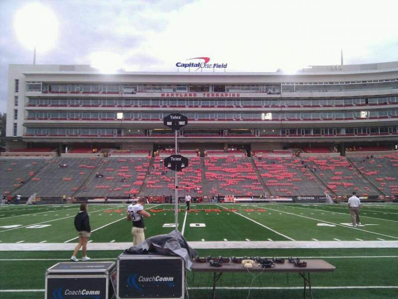Seating view for Maryland Stadium Section 5 Row b Seat 25