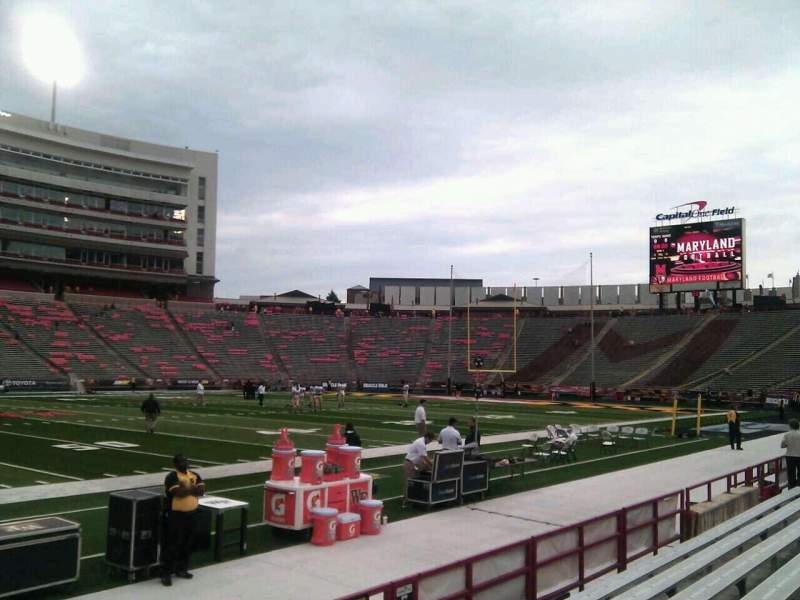 Seating view for Maryland Stadium Section 4 Row f Seat 22
