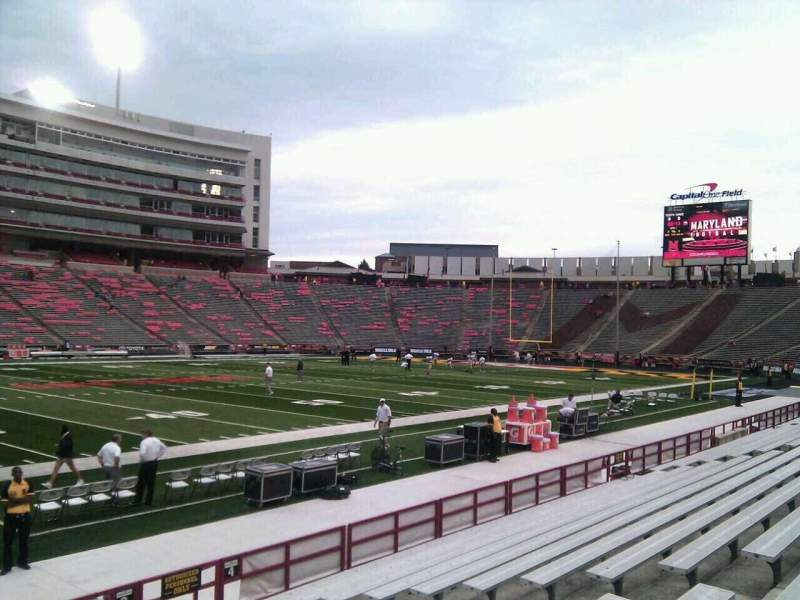 Seating view for Maryland Stadium Section 3 Row n Seat 17