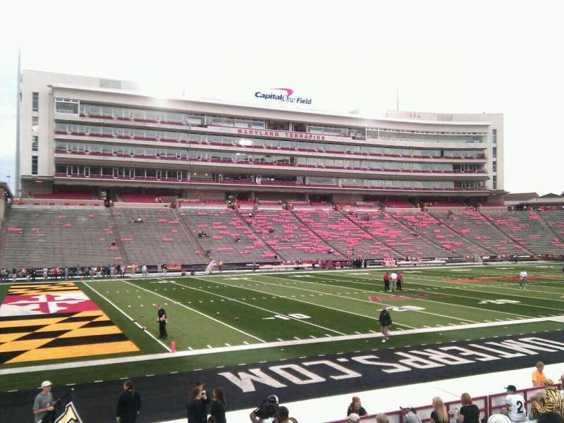 Seating view for Maryland Stadium Section 2 Row p Seat 11