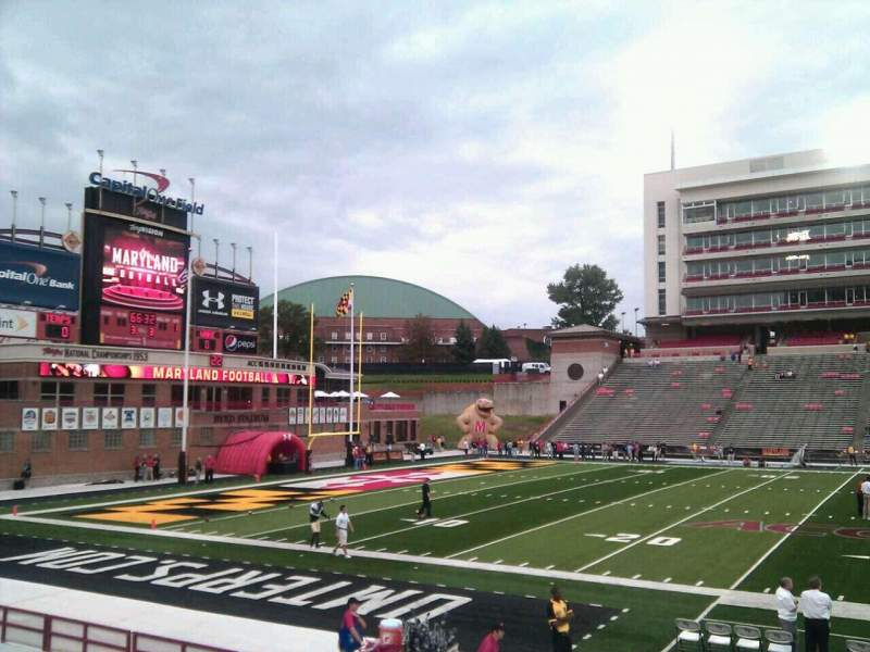 Seating view for Maryland Stadium Section 4 Row p Seat 12